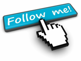 cursor hand pointing to follow me button.